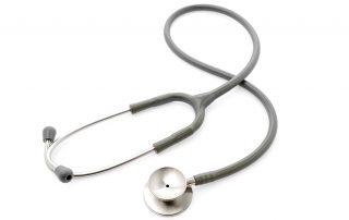 Medical Stethoscope on white background