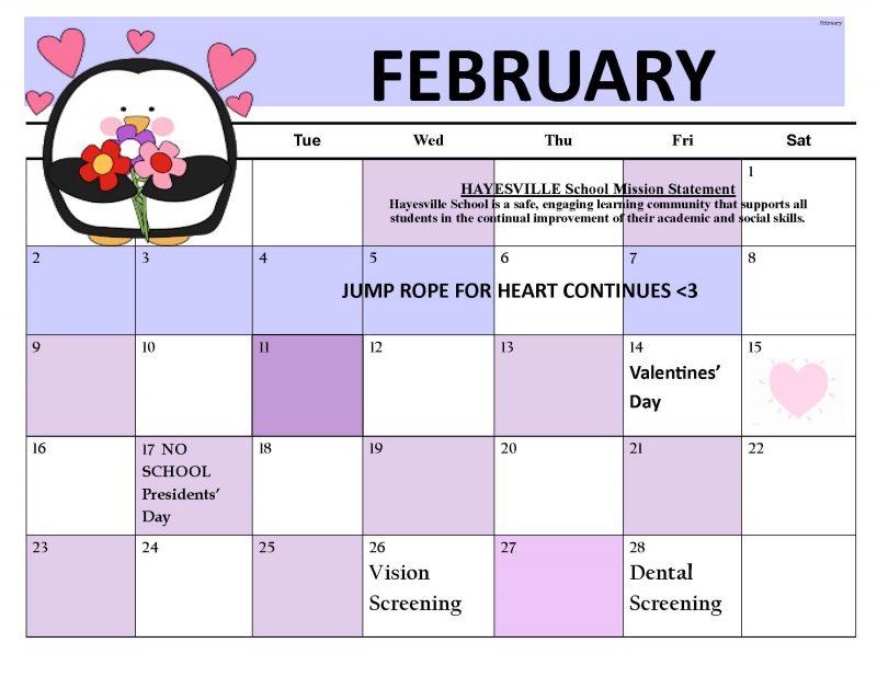 February 2020 CALENDAR (English)