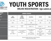 Spring Sports Calendar 2020