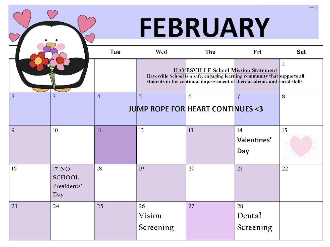 February Calendar Story Image 2020